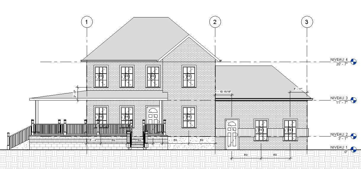 plan de maison revit